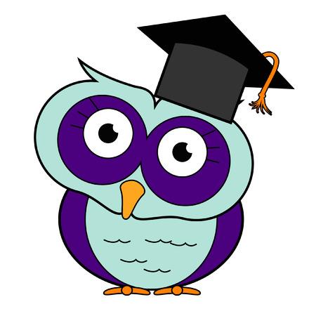 Graduation Themed Owls Vector
