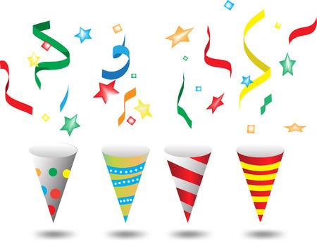 party popper illustration Illustration