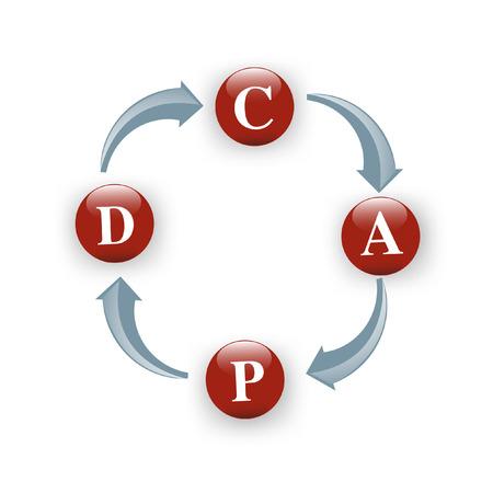 plan do check act: Vector PDCA (Plan Do Check Act) diagram
