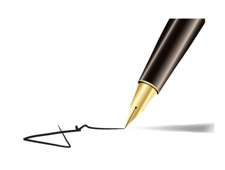 Pen and signature illustration