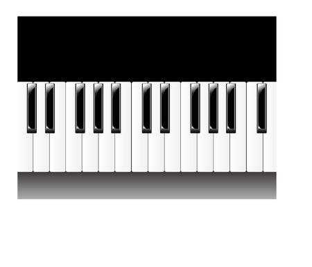 teclado de piano: Piano ilustraci�n Vectores
