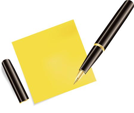 sticky note: Sticky Note Icon and pen