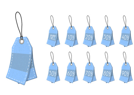 sell out: Sale tags. Vector. illustration