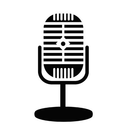 retro microphone: Retro microphone