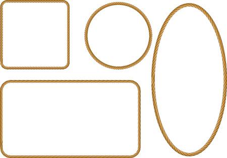 bordes decorativos: cuerda marco Vectores