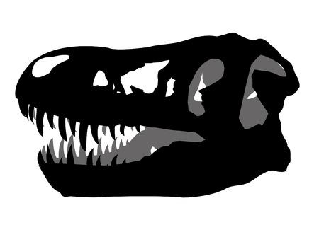 blooded: skull fossil dinosaur
