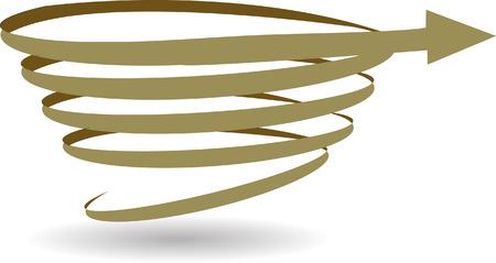 Spiral Arrow Vector