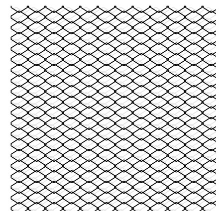 chainlink: wired fence - vector