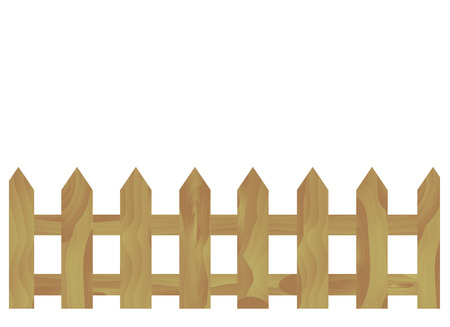 Vector Illustration of Different Seamless Wooden Fences Vector