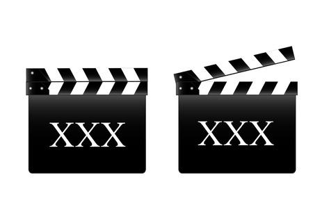 movie clapper: batacchio film con Tasso X Vettoriali