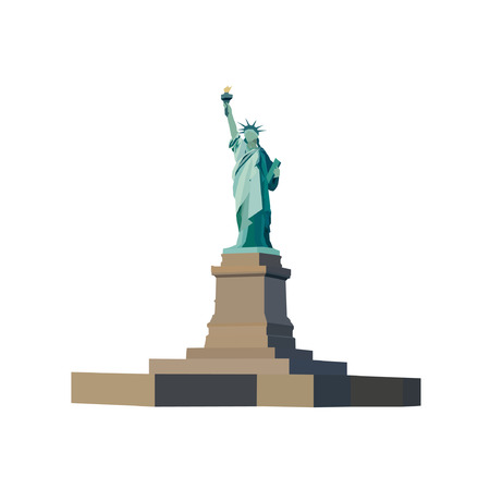 liberty torch: Statue Of Liberty Vector