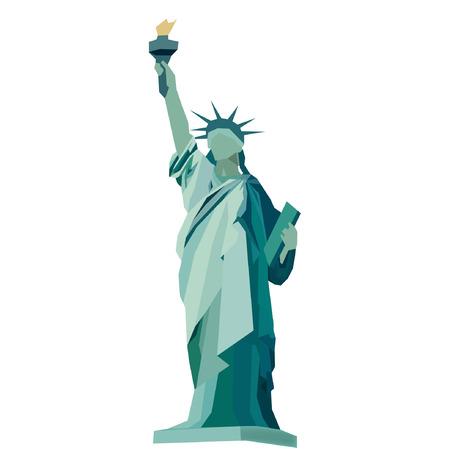자유의 날개 벡터의 동상 스톡 콘텐츠 - 32653899