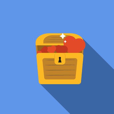 treasure chest: treasure Chest with heart