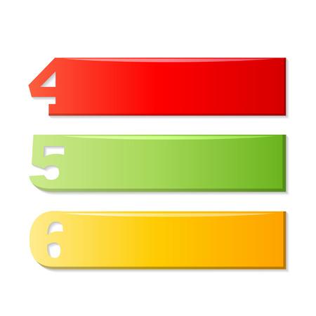 5 6: 4 5 6 ,number labels Illustration