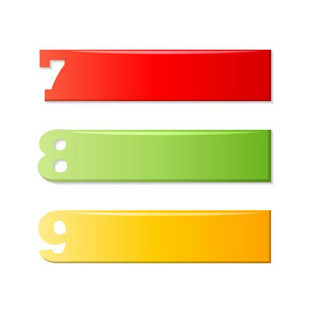 7 8: 7 8 9 ,number labels