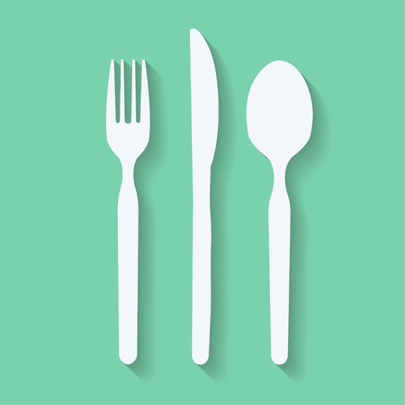 knife fork: knife, fork and spoon