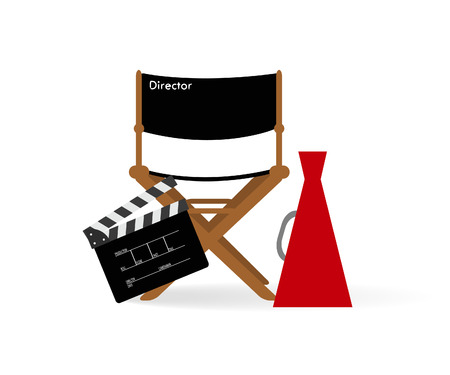 Movie director chair Illustration