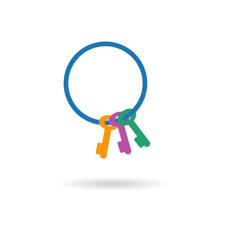 keyring: keyring or keychain. Vector Illustration