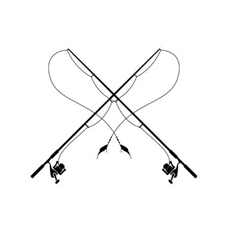 Bent fishing rod clipart