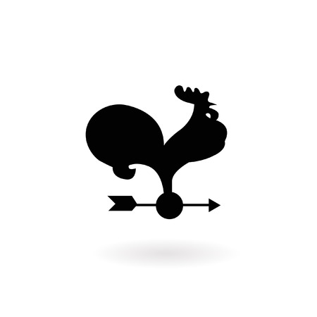 rooster weather vane: Weather Vane Illustration