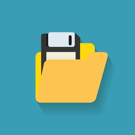 floppy disk: folder with floppy disk