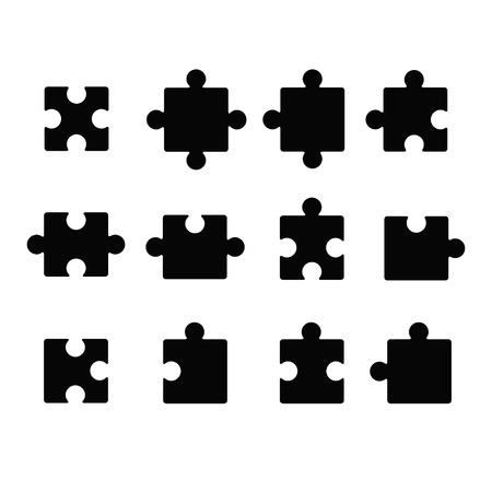 piezas de rompecabezas: Icono de Jigsaw