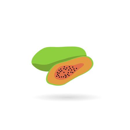 papaya: papaya ,Flat style