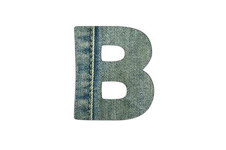 torn jeans: letter of jeans alphabet