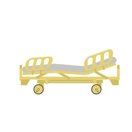 emergency room: Sick bed Illustration