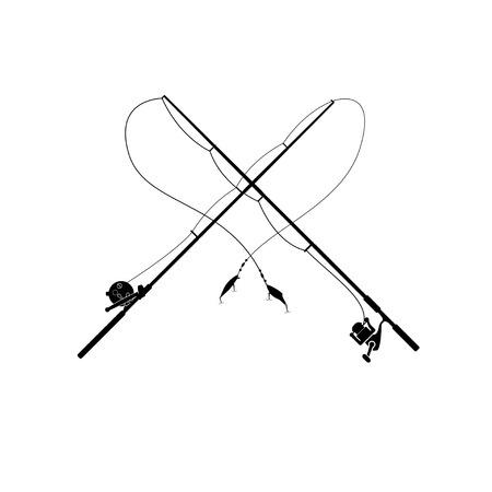 fishing pole: isolated fishing rod