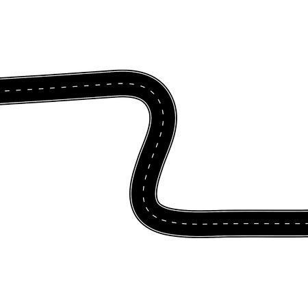 白の道路図