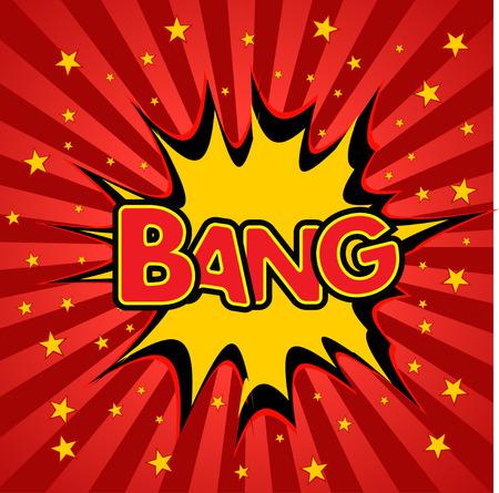 bang: bang  abstract background