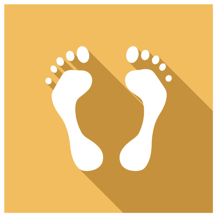 barefoot walking: vector of  foot Illustration