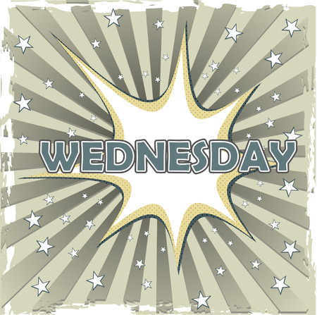 wednesday: wednesday on art background