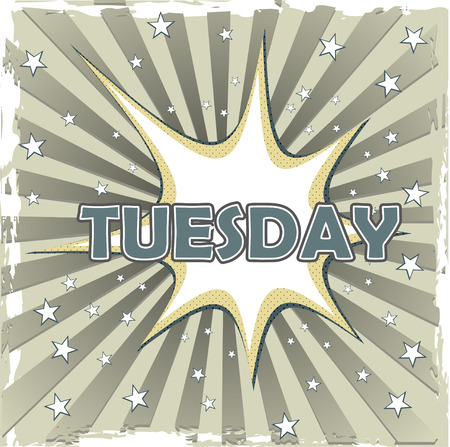 tuesday  on art background