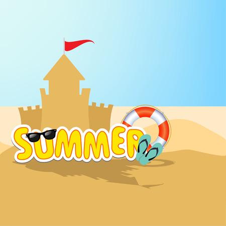 summer: лето Иллюстрация