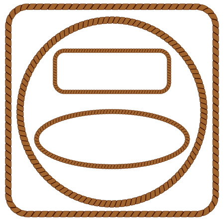 rope border: rope frame
