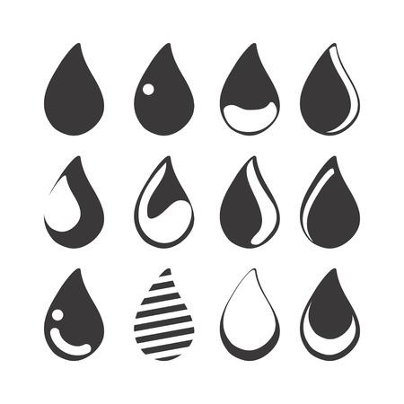 gota agua: icono de la gota de agua Vectores