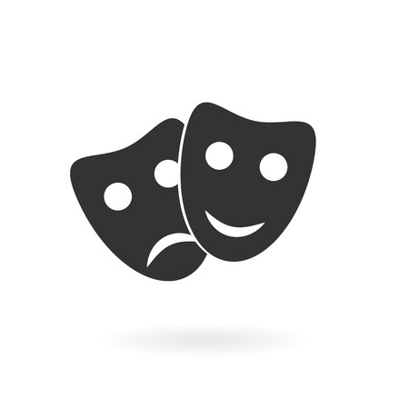 theatre performance: mask  icon