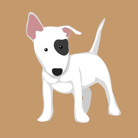 bull illustration cute animals: Bull Terrier