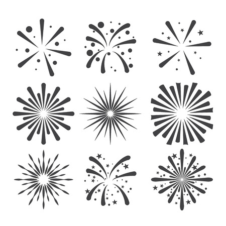 starburst: fireworks icon Illustration