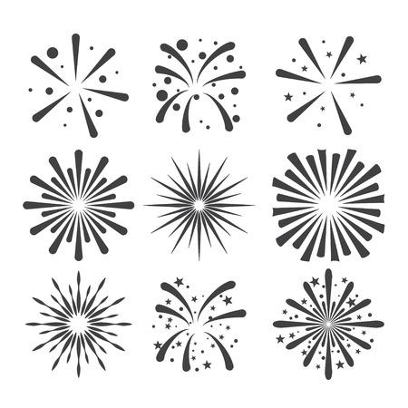 starbursts: fireworks icon Illustration