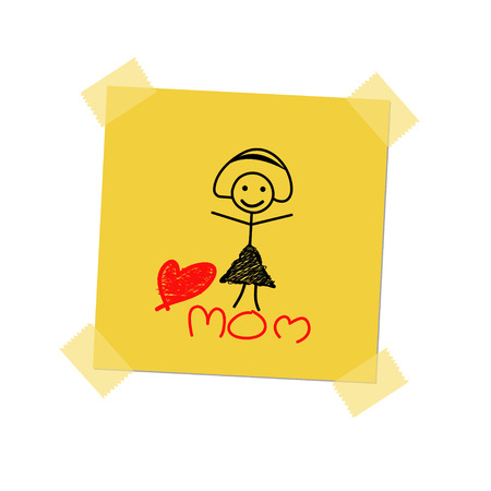 love mom: amar a mam� en el post-it