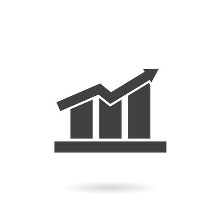 Icono de gráfico de barras Foto de archivo - 40188004