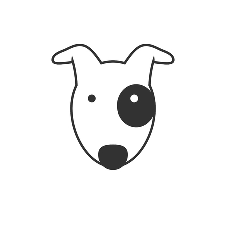 beagle puppy: Bull Terrier  icon Illustration