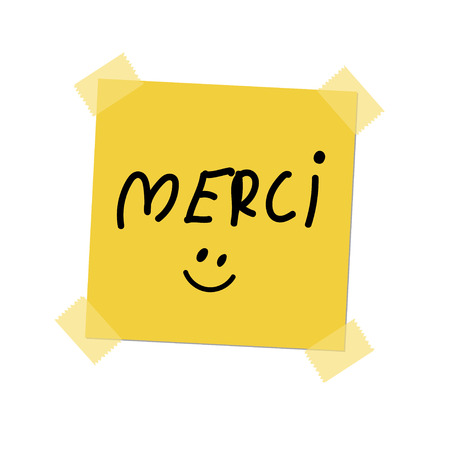 post it: merci paint on post it