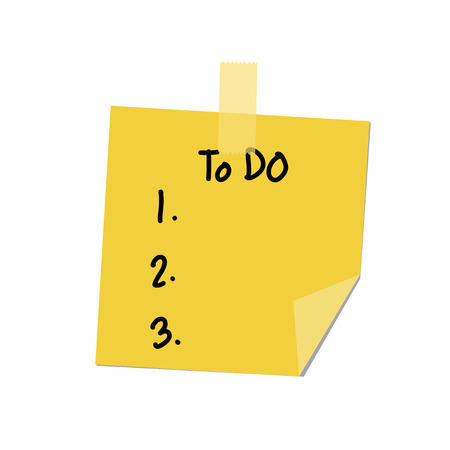 to do list: to do list paint Illustration