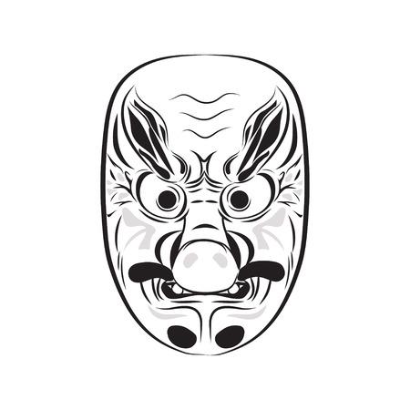 imp: Japanese demon mask