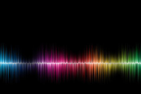 sound waves background Stock Photo