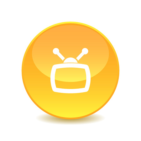 television icon: Television icon Illustration